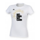 No Pain No Gain Gold Arch Design Women's White T-Shirt