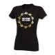 No Pain No Gain Gold Circle Design Women's Black T-Shirt