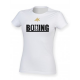 AK Boxing Bag Design Women's White T-Shirt
