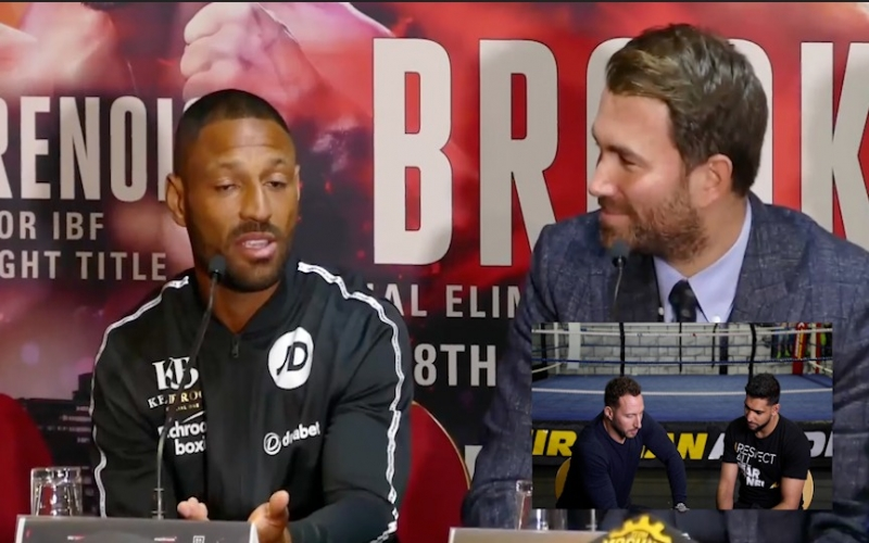 Amir Khan reacts to Kell Brooks claim 'he is running off!'