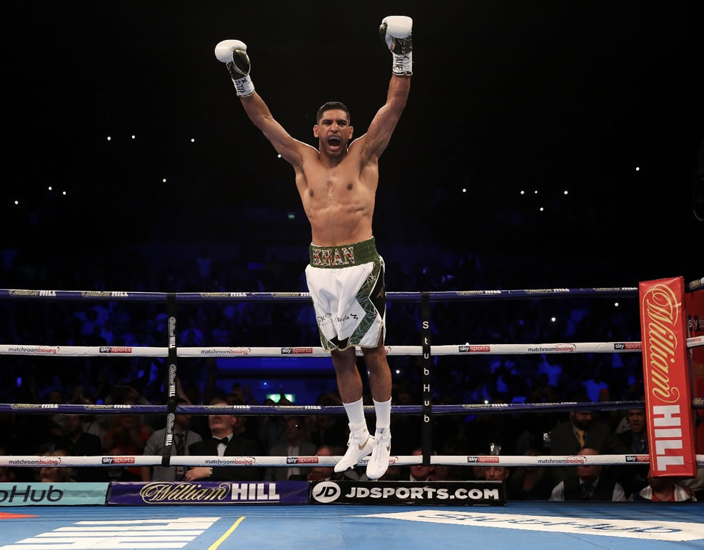 Amir Khan Arms Aloft